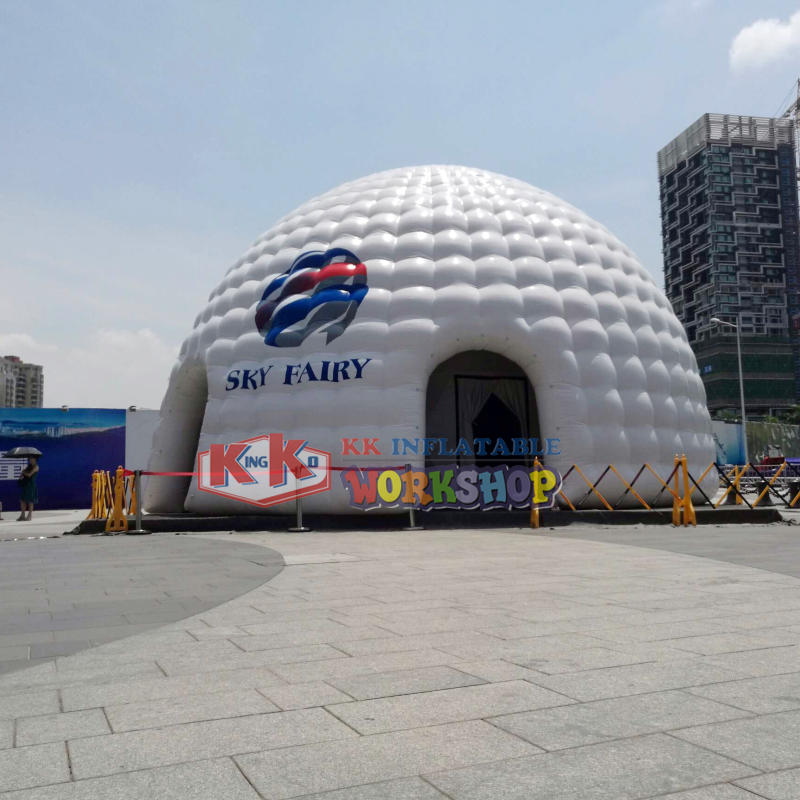 Outdoor giant inflatable igloo advertising tent