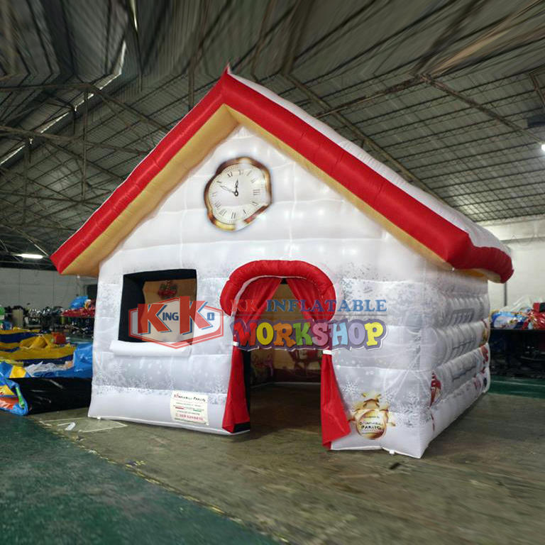 Children's tent, Full printing PVC inflatable Santa house