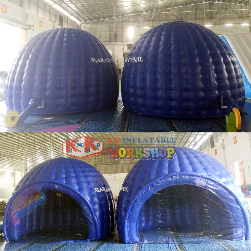 Inflatable air dome for advertisement and show