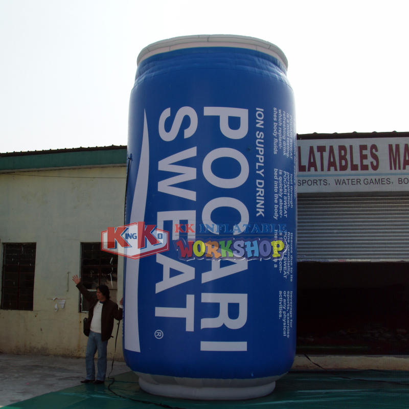 Inflatable bleaching advertising cola model