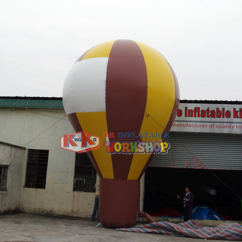 Inflatable float advertising hot air balloon