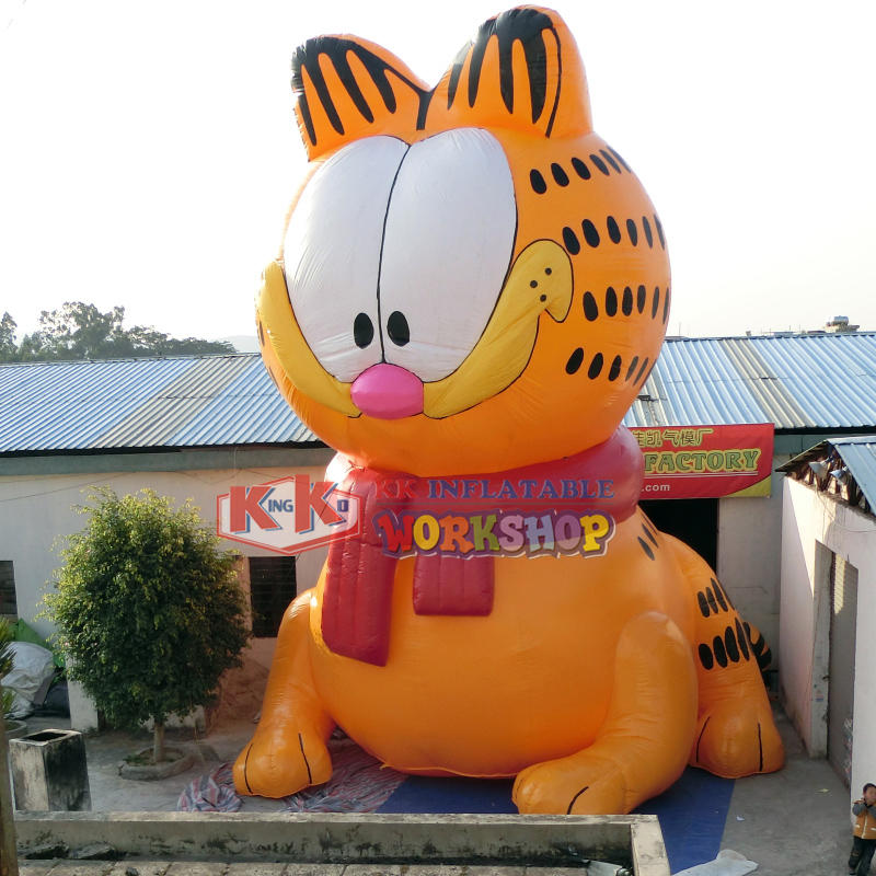 Customized large inflatable cat advertisement