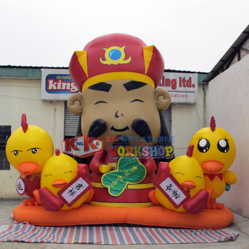 Chinese manufacturers inflatable god of wealth model