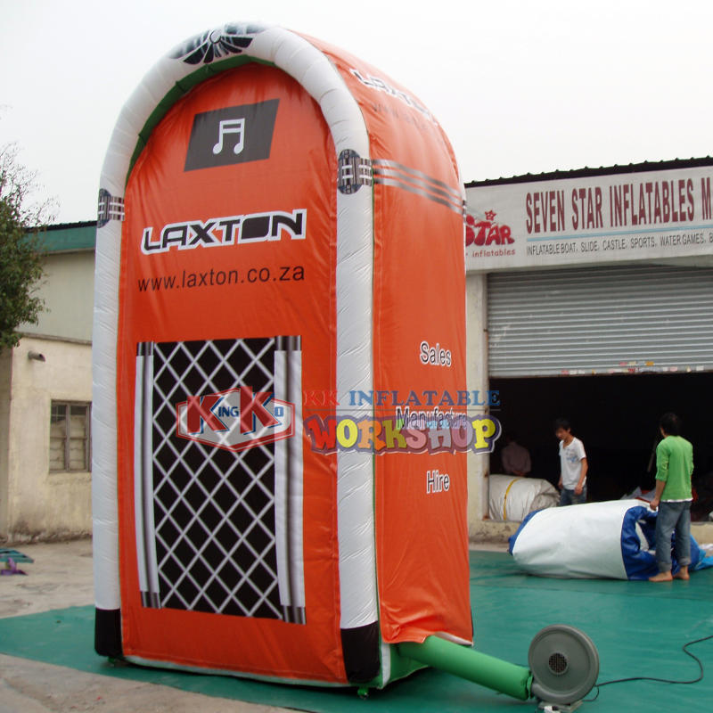 Custom inflatable advertising booth