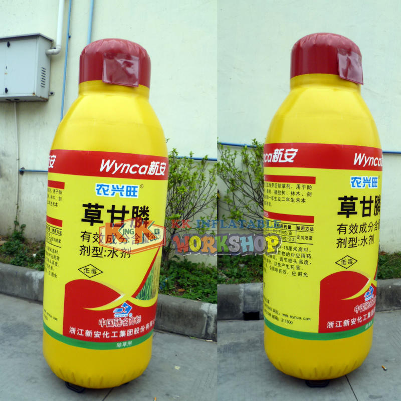 Manufacturers promote custom inflatable bottles