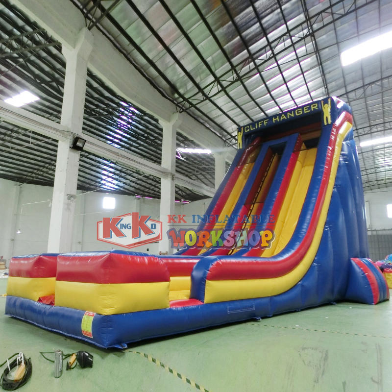 Durable and fun double-channel inflatable slide