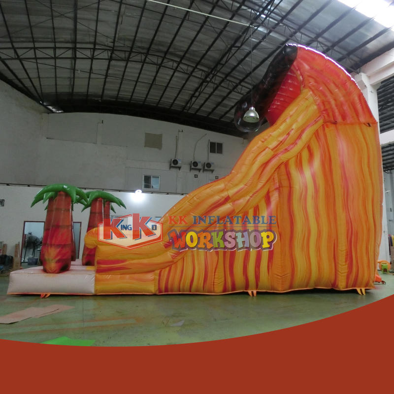 Garden small simple fast inflatable slide