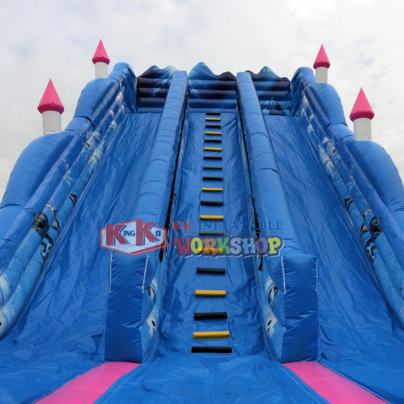 Children's Favorite Theme Inflatable Frozen Jumping Castle Slide Amusement park equipment