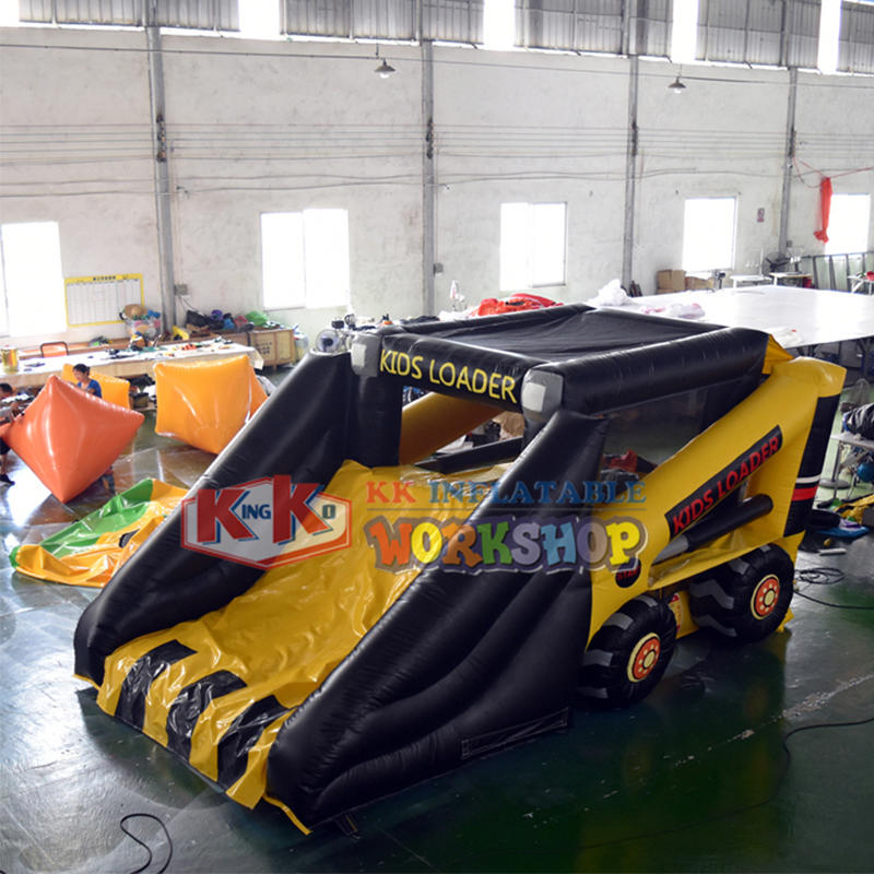 Party Inflatebles Inflatable Truck Dry Slide for Kids
