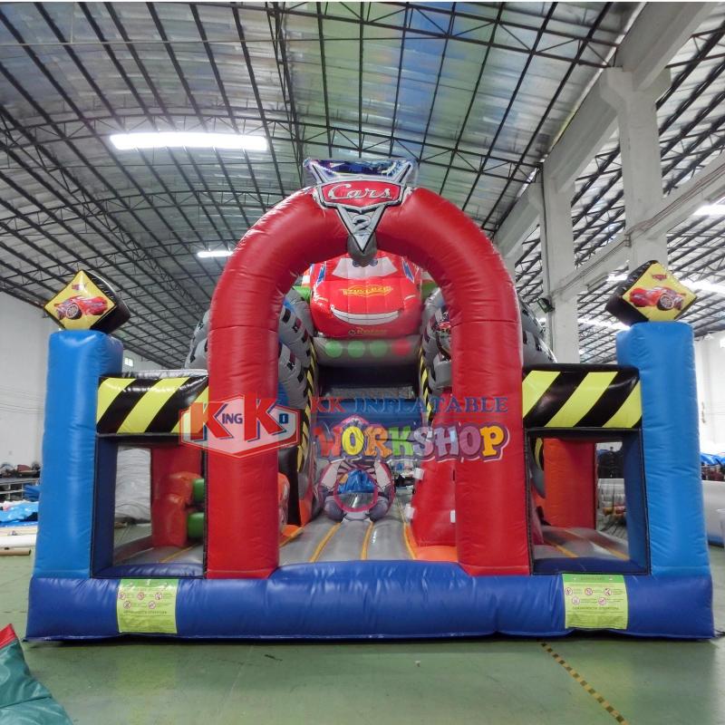 Open-wheel Racing Inflatable Slide, 2020 New Big Inflatable Racing Car Slide for Kids Playing