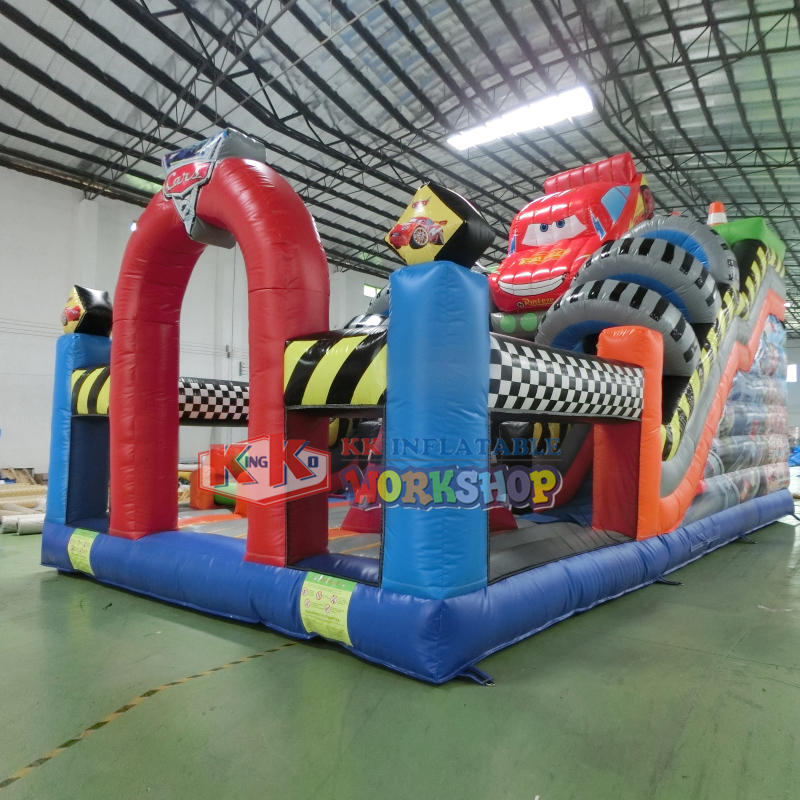 Open-wheel Racing Inflatable Slide, 2020 New Big Inflatable Racing Car Slide for Kids Playing
