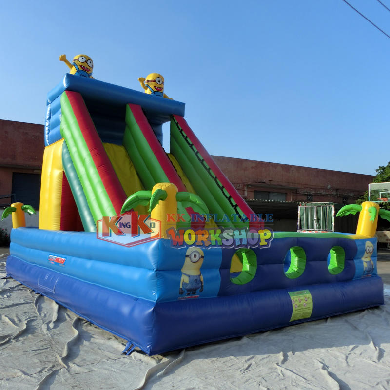 Inflatable climbing slide combination