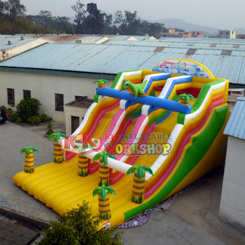 Durable playground inflatable slide
