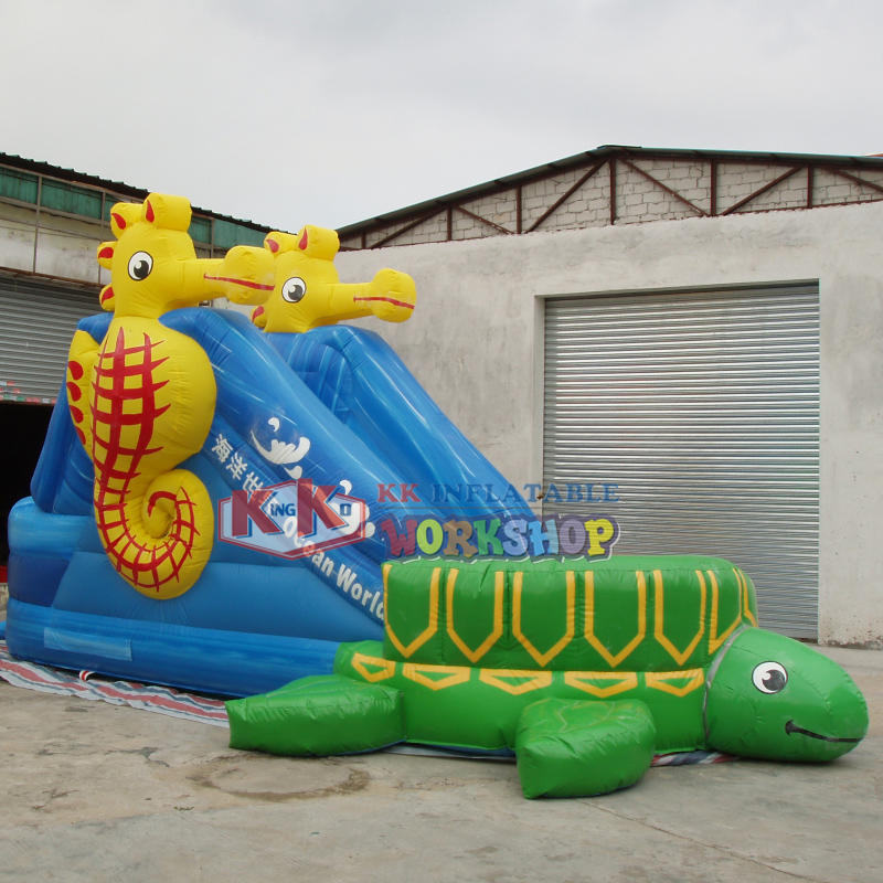 Aqua Inflatable Toys Sea Turtle Inflatable Water Slide