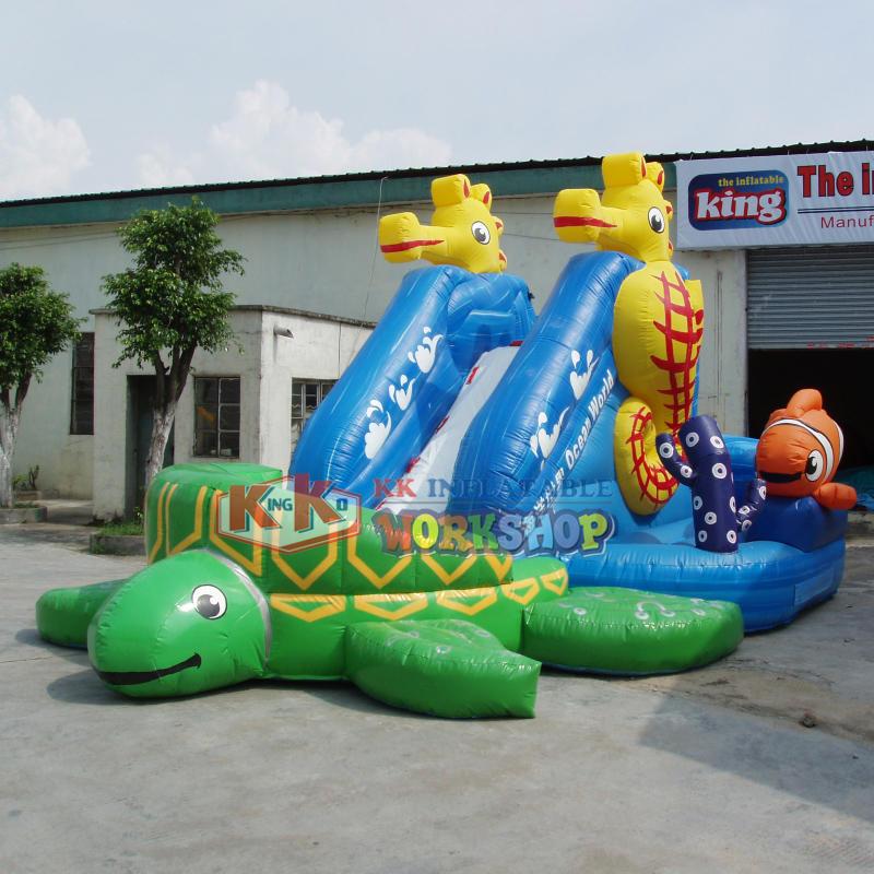 Aqua Inflatable Toys Sea Turtle Inflatable Water Slide