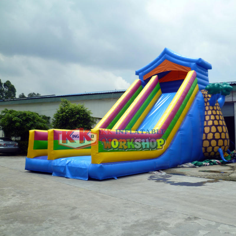 Pineapple Inflatable Bouncy Castle Slide Commercial Inflatable Slides For Carnival