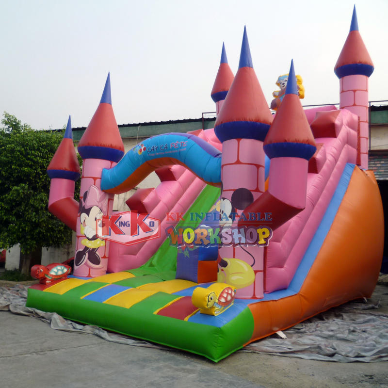 buy inflatable castle slide