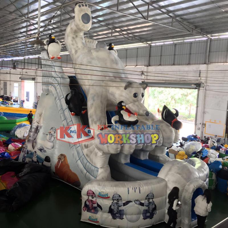 Inflatable Gaint Polar Bear Slide
