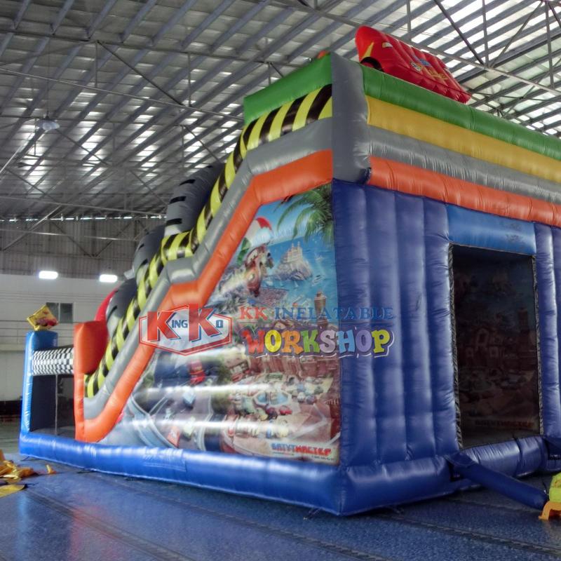 Inflatable Jungle Printing Slide Moonwalk
