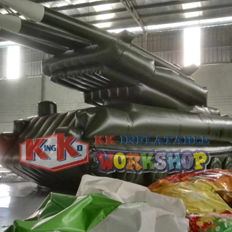 Military equipment inflatable tank model