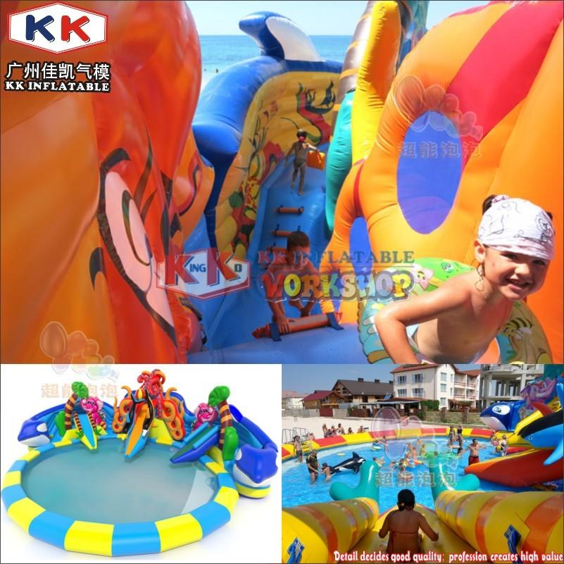 Inflatable Water Parks Inflatable Sea Snail Slide Water Parks, Inflatable Ocean World Water Park