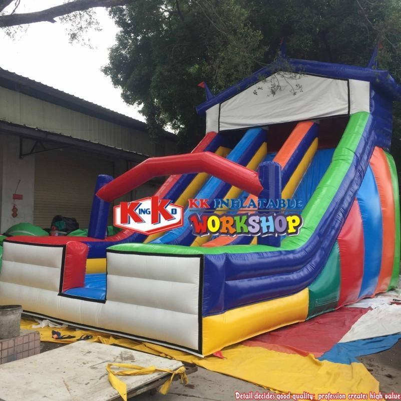 Home Used Inflatable Slide Equipment, Multi-Color Large inflatable children / adult slide