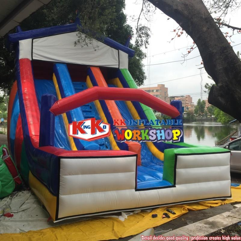 Home Used Inflatable Slide Equipment, Multi-Color Large inflatable children / adult slide