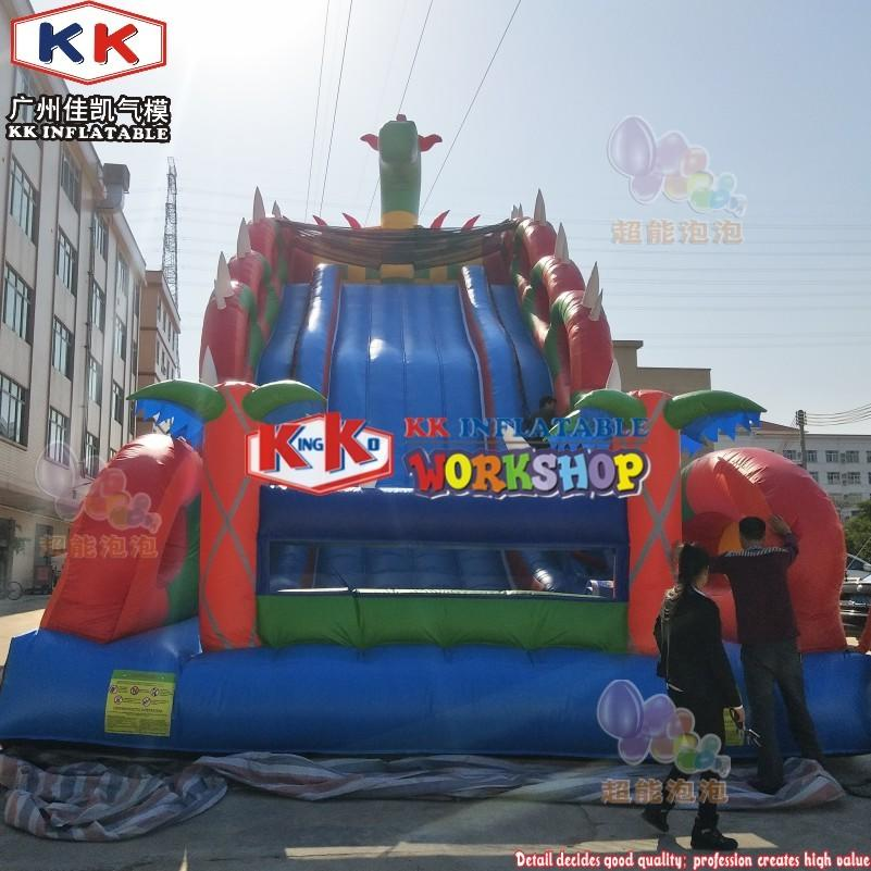 Fun Giant Russian Style Inflatable Dragon Slide Playground