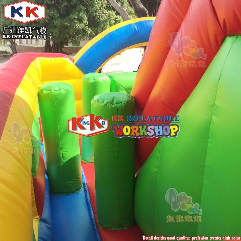 5 Star Comments 4 meters high kids spiderman inflatable slide with complete digital printing for outdoor parties