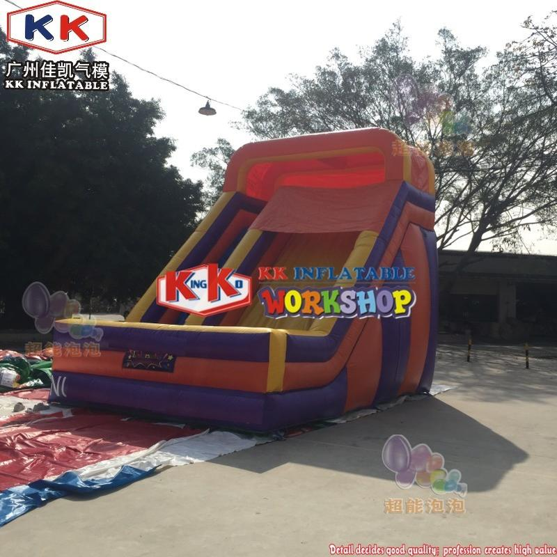 Logo Free Colors Playground Inflatable Slide Apparatus,  Manufacturers of commercial grade bounce houses Dual Primary Colors Slide