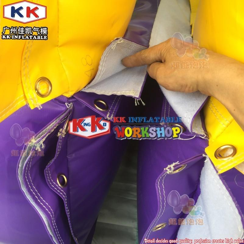 Toxic Radical Run Obstacle Course, Toxic Theme Inflatable dry playground inflatable products