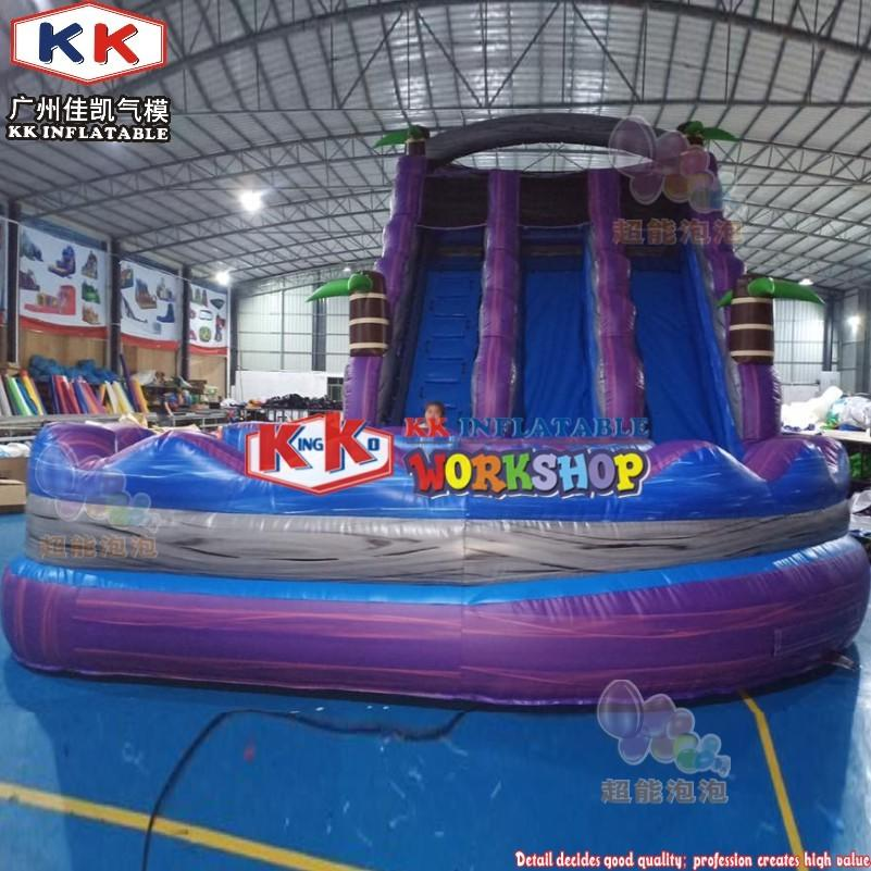 36ft Front Loader Inflatable Water Slide, Tsunami Bay Water Slide