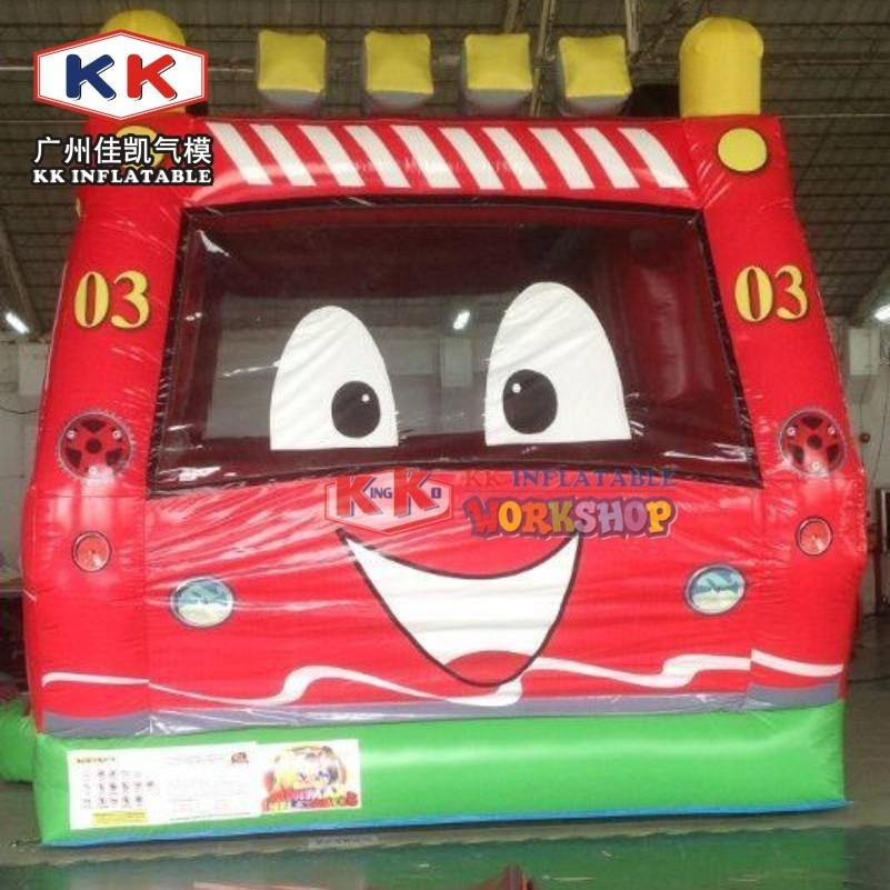 Inflatable fire station playground bouncer jumping castle for kids