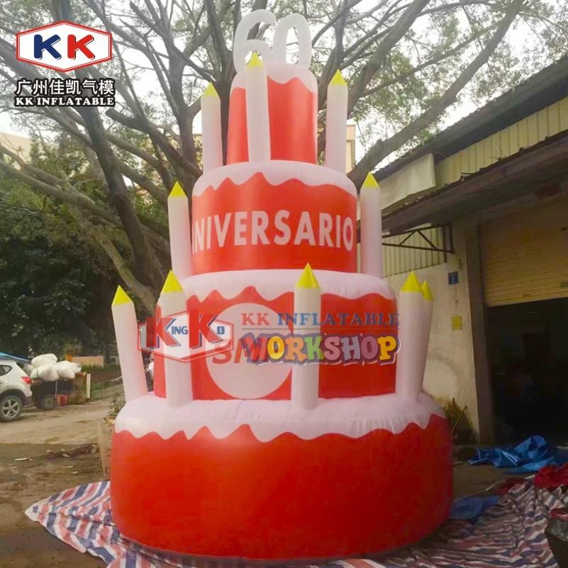 Festival Event Decoration Inflatable Cake For Wedding Party