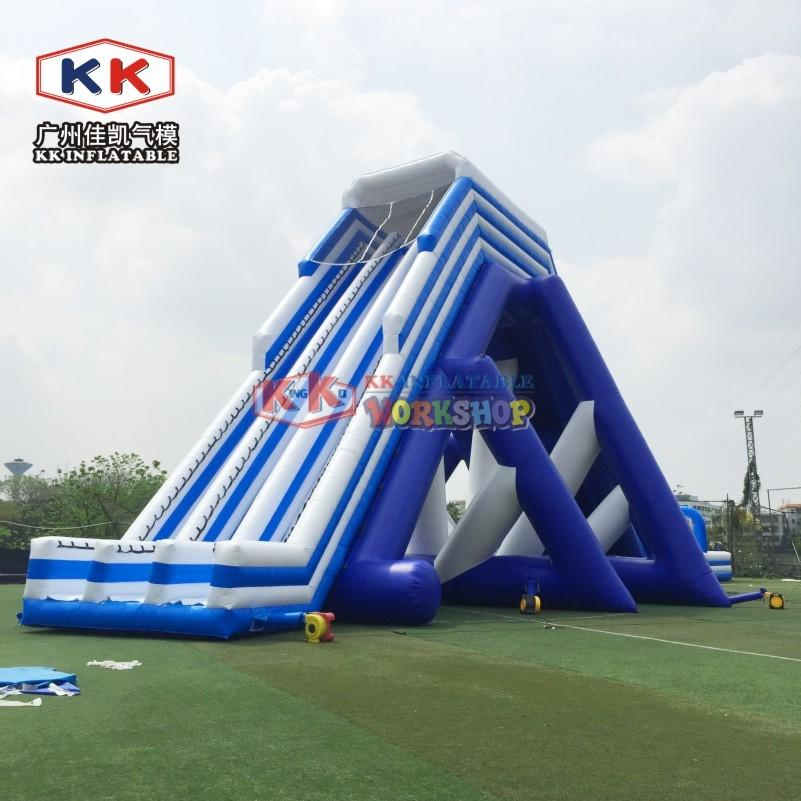 50m Long China Inflatable Hippo Slip Inflatable Water Slide Giant Hippo Slide