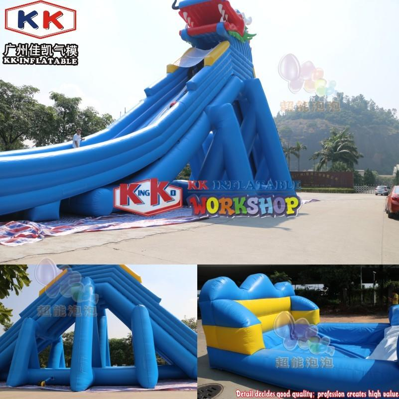 2020 Very Hot Screaming Type Inflatable Hippo Trippo Water Slide for Amusement Park