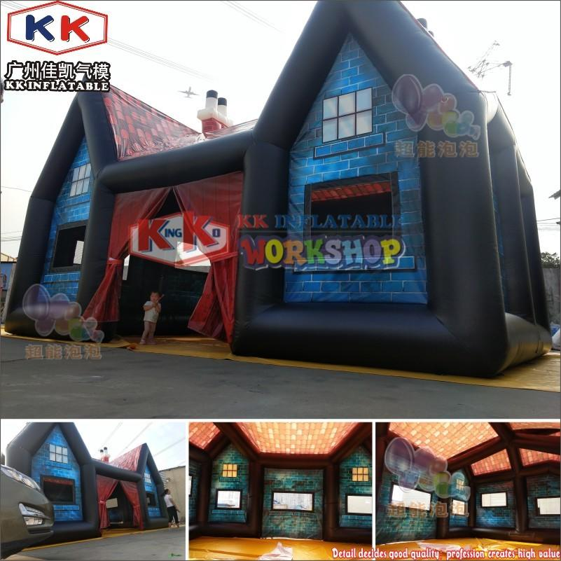 10x5m Blue Printing Inflatable Pavilion Inflatable Pub Tent Inflatable Bar