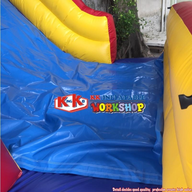 Latvia Airplane Inflatable Bounce House Obstalce Course Race For Kids