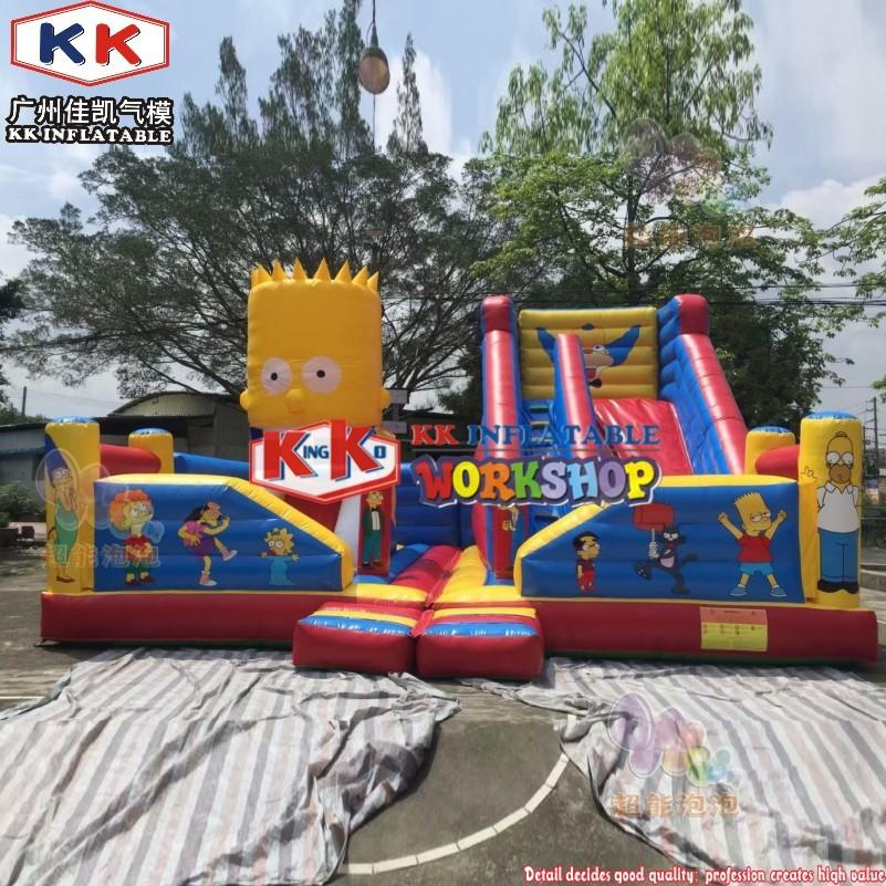 Commercial Design Cartoon Artwork Simpson Family Inflatable Fun City Attractive Amusement Park