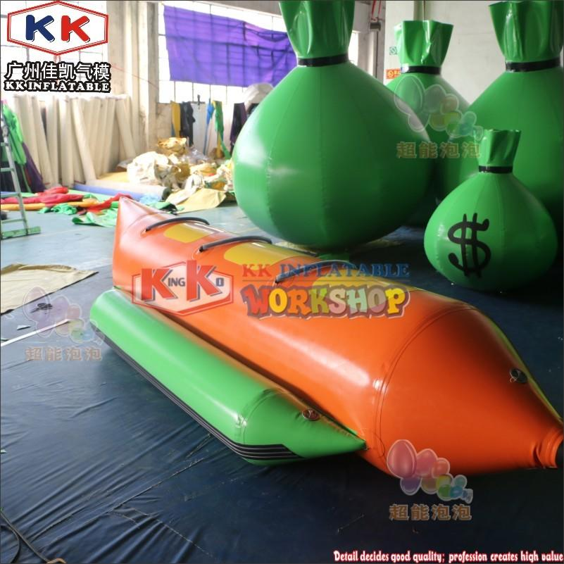 Commercial Sea Floating Water Park Inflatable Banana Boat Recreational Single Boat PVC Boat