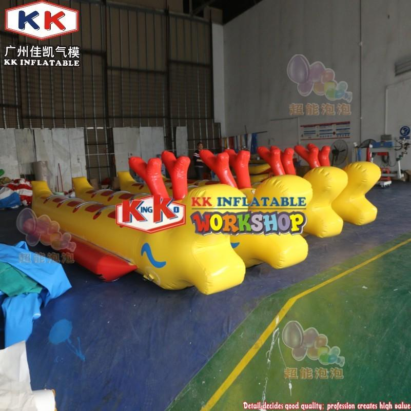 Multiple Colors Towable Ski Tube Inflatable Dragon Boat for 10 Persons