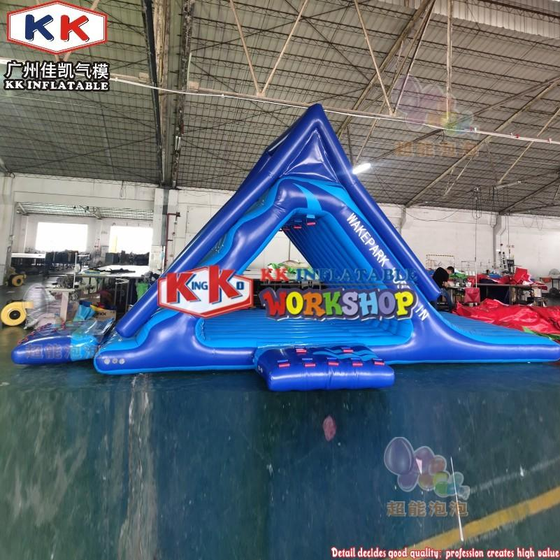 Inflatable Water Park Equipment Floating Triangle Inflatable Water Slide