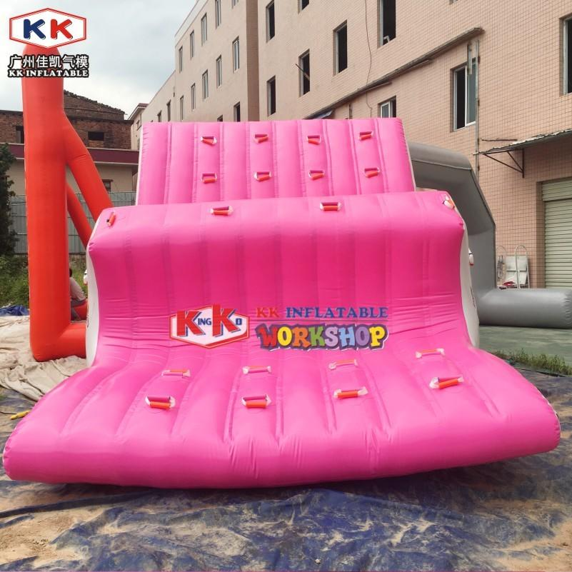 Pink W Inflatable Water Totter, Inflatable Water Seesaw for Water Park / Lake Pool Waterpark Games