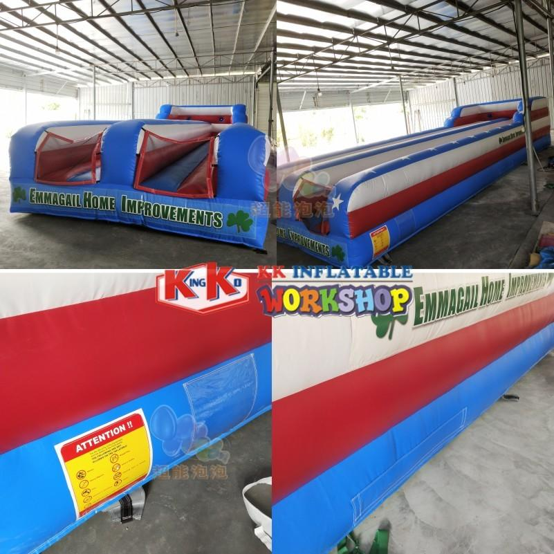 Challenge Sports Training Action Inflatable Bungee Run Double Lane Running Sports