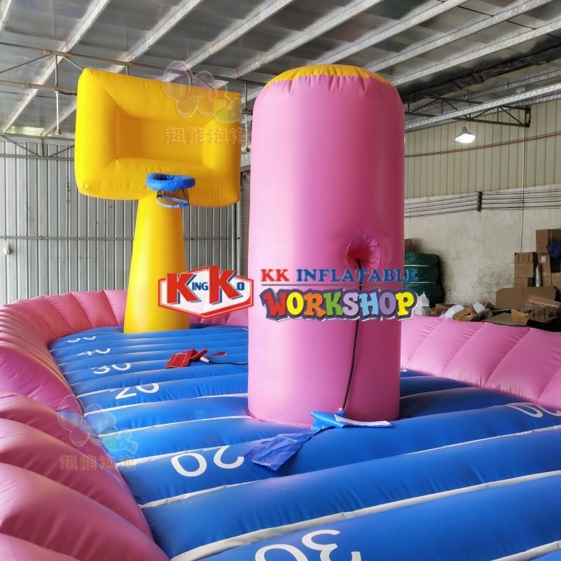 Creative Design Inflatable Basketball Field Combined with Bungee Run