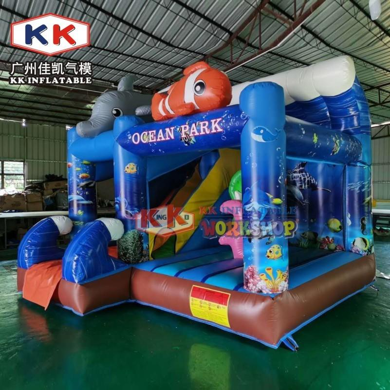 Ocean Nemo Fish Theme Inflatable combo, jump house jumping castle, inflatable bounce house slide inflatable bounce castle