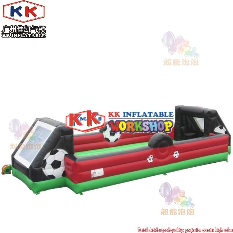 outdoor giant inflatable soap soccer football field with inflatable bouncer bottom