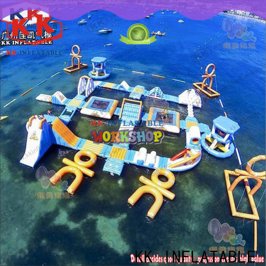KK INFLATABLE blue inflatable water playground manufacturer for children