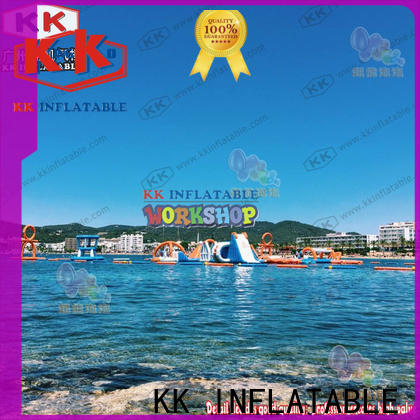 hot selling inflatable water parks slide pool combination factory price for seaside