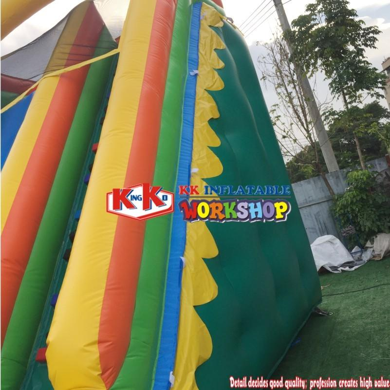 Commercial plam tree straight high inflatable water slide pool/used inflatable water slide